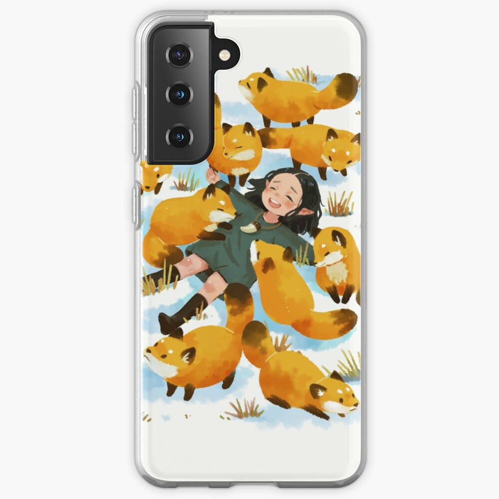 Snuggles with foxes Samsung Galaxy Phone Case
