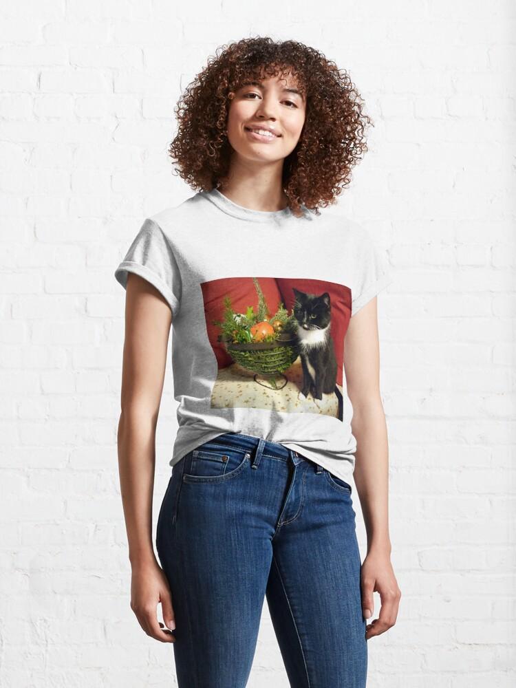 Alternative Ansicht von Katze Mimi mag Weihnachten Classic T-Shirt