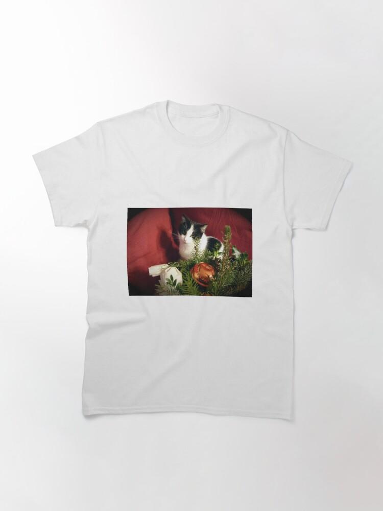 Alternative Ansicht von Katze Lilli mag Weihnachten Classic T-Shirt