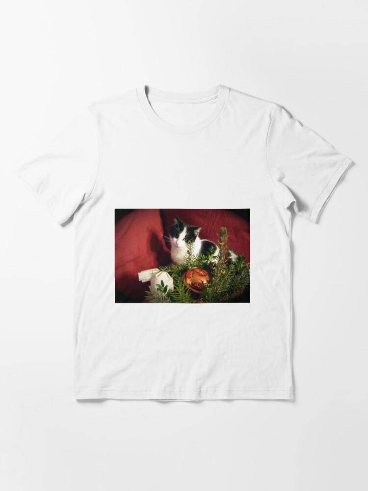 Alternative Ansicht von Katze Lilli mag Weihnachten Essential T-Shirt