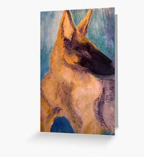 Sirius Portrait Painting Greeting Card