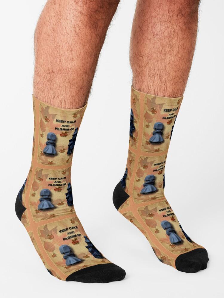 Alternate view of Keep Calm And Pilgrim On Socks