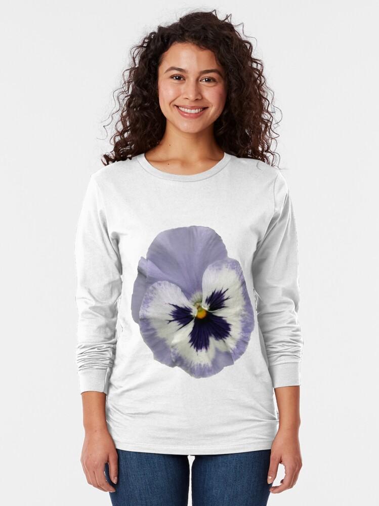 Alternative Ansicht von Stiefmütterchen-Blüte 2 Langarmshirt