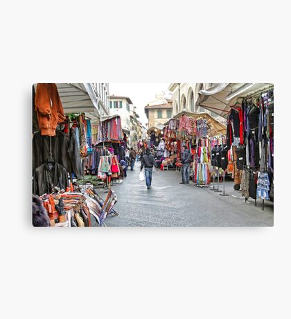The Marketplace - Florence,  Italy Canvas Print