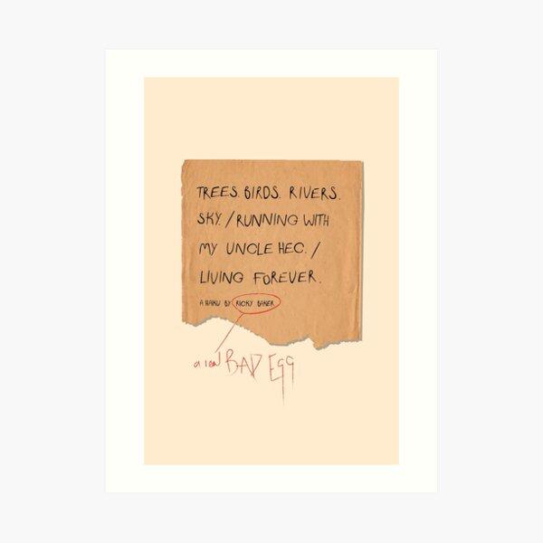 A Haiku by Ricky Baker Art Print