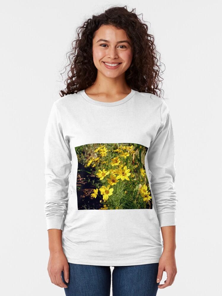 Alternative Ansicht von Blüten in Gelb Langarmshirt