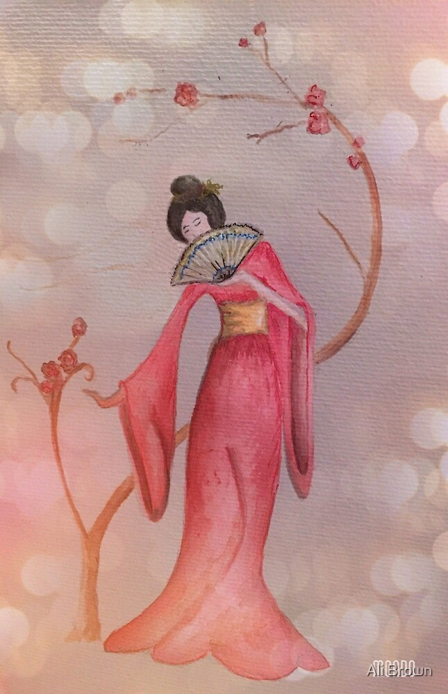 Japanese lady by Alison  Brown