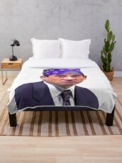Prison Mike The Office Throw Blanket