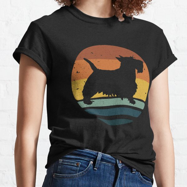 Scottish Terrier Retro Vintage  Classic T-Shirt