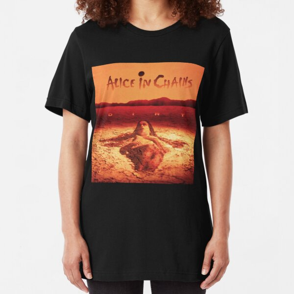 alice in dirt sand chains tour 2019 2020 bentang Slim Fit T-Shirt