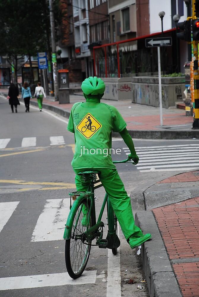 Green man on a Bike  by jhongne