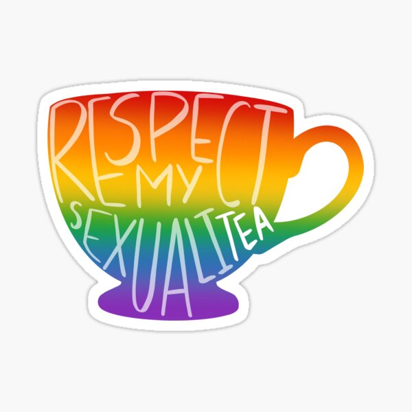 Respect My SexualiTEA Sticker