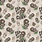 Can of Corn Pattern Vintage Style by MudgeStudios