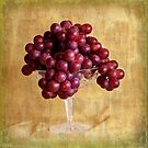 Grungy Grapes And Crystal  by Sandra Foster