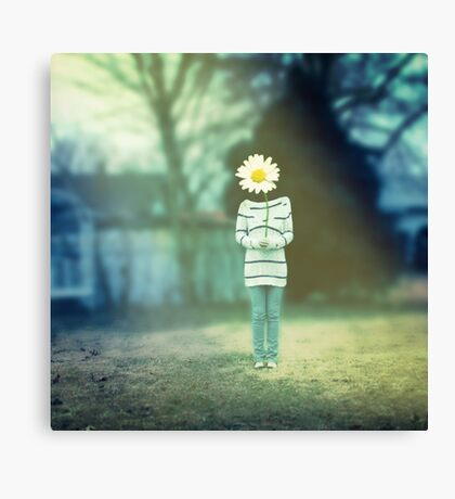 You Are Just As Beautiful As a Wildflower Canvas Print