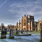 Melrose Abbey by Lynne Morris