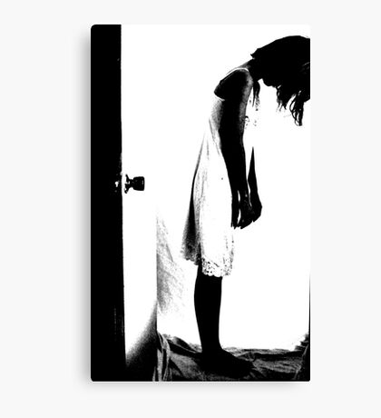 Slip Through The Doorway Canvas Print
