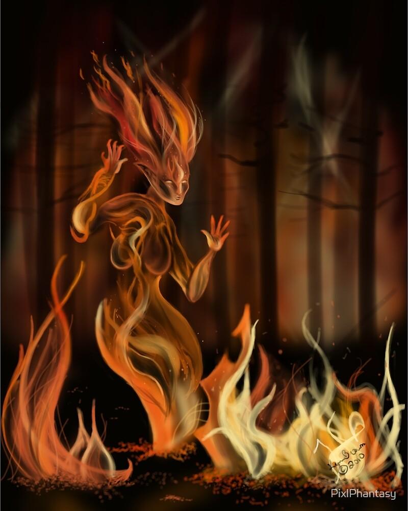Fire Spirit by PixlPhantasy