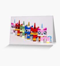 Cute-six-kitty Greeting Card