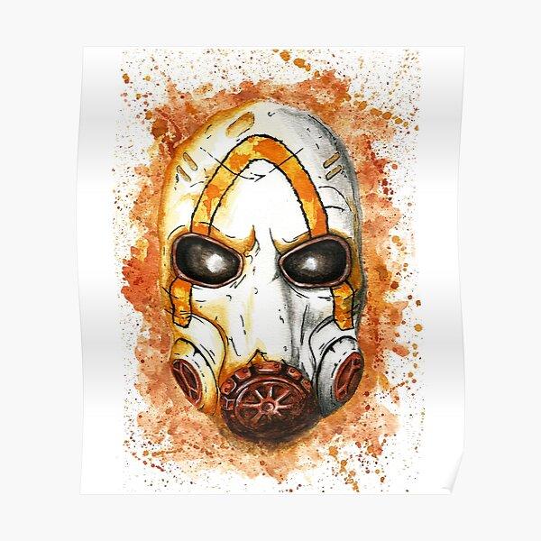 Psycho Mask Watercolor Poster