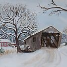 Vermont Covered Bridge in Winter by donnawalsh