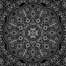 BLACK WHITE MANDALA by magicdreams