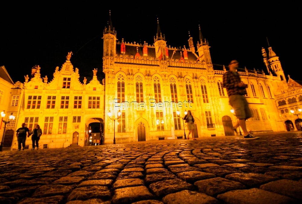 Bruges by night by Emma Bennett