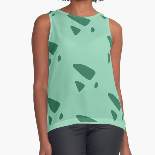 Bulbasaur pattern Sleeveless Top