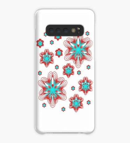 Spirographs with red and blue pattern Case/Skin for Samsung Galaxy