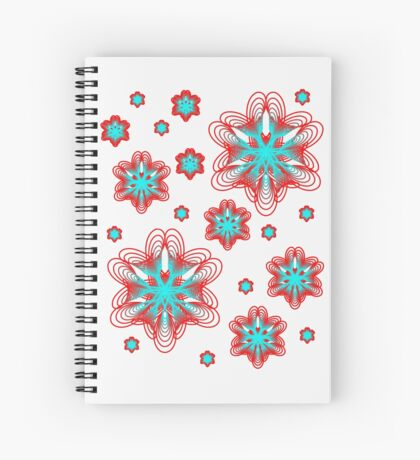 Spirographs with red and blue pattern Spiral Notebook