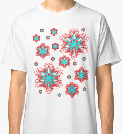 Spirographs with red and blue pattern Classic T-Shirt