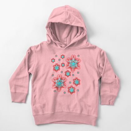 Spirographs with red and blue pattern Toddler Pullover Hoodie