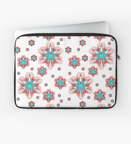 Spirographs with red and blue pattern Laptop Sleeve