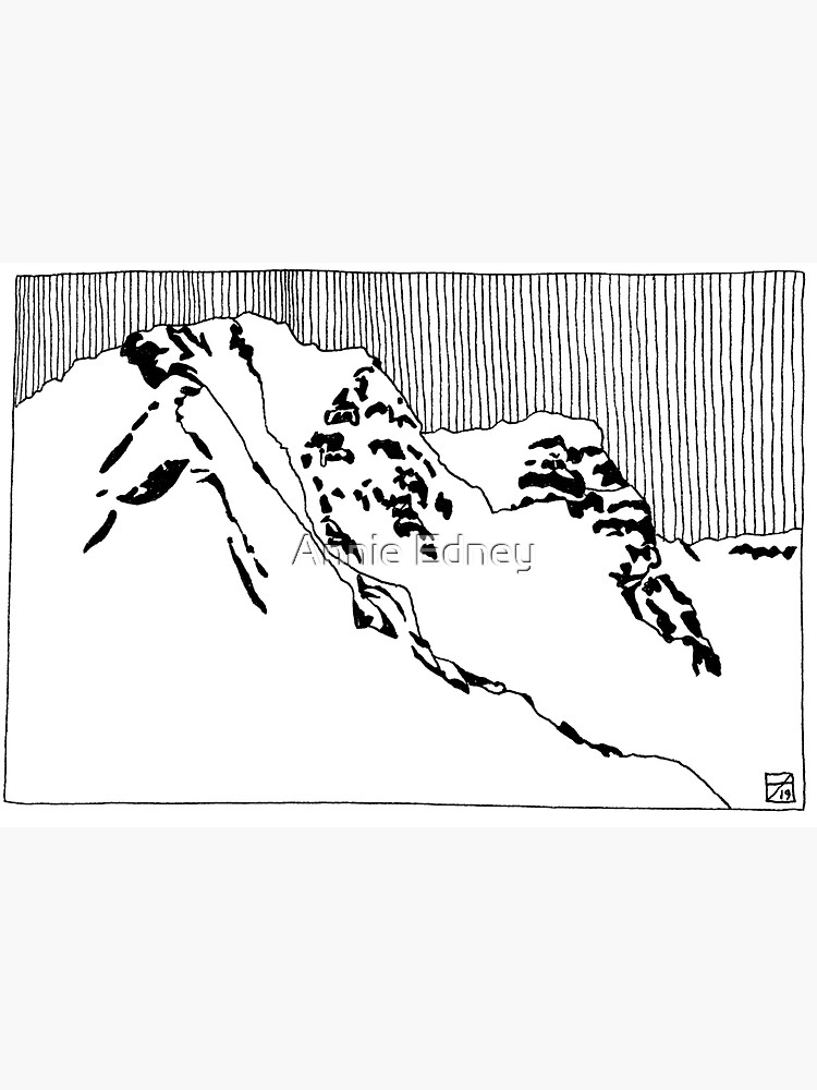 Iceland Series - The Challenging Horizon (Black Ink) by annieedney