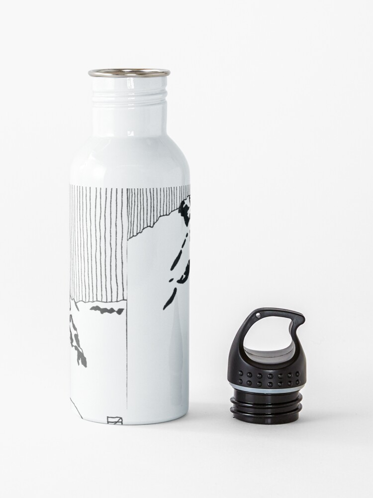 Alternate view of Iceland Series - The Challenging Horizon (Black Ink) Water Bottle