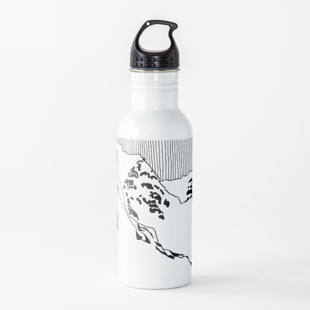 Iceland Series - The Challenging Horizon (Black Ink) Water Bottle