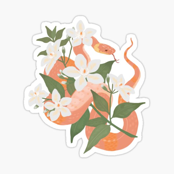 Sampaguita and Snake Sticker