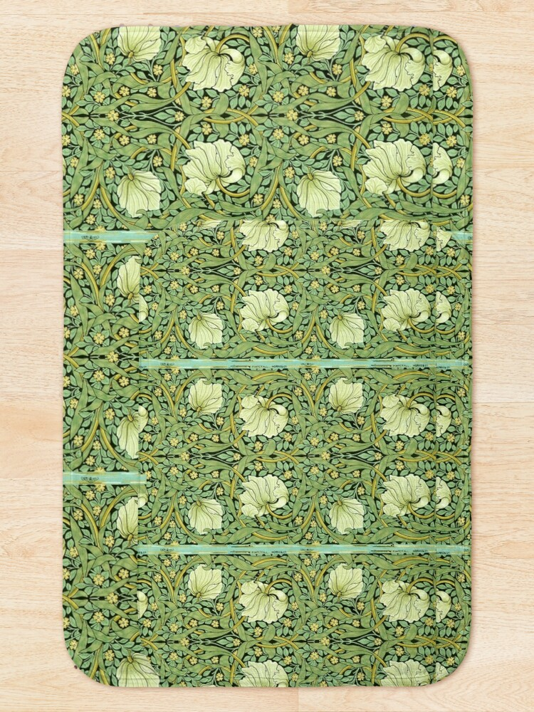 Alternate view of William Morris Pimpernel  Bath Mat