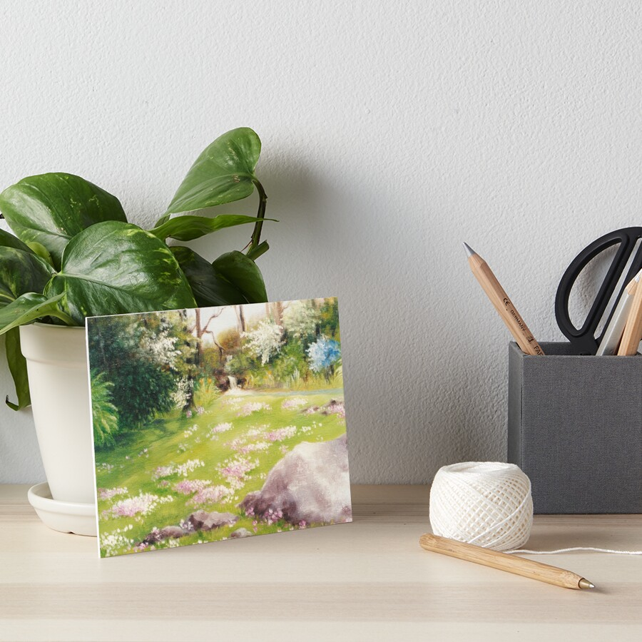 Primoses in Fairy Land Art Board Print