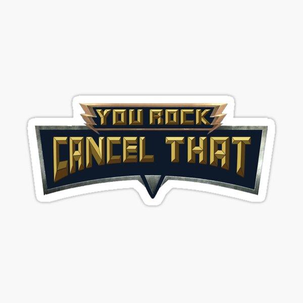 Cancel That Sticker