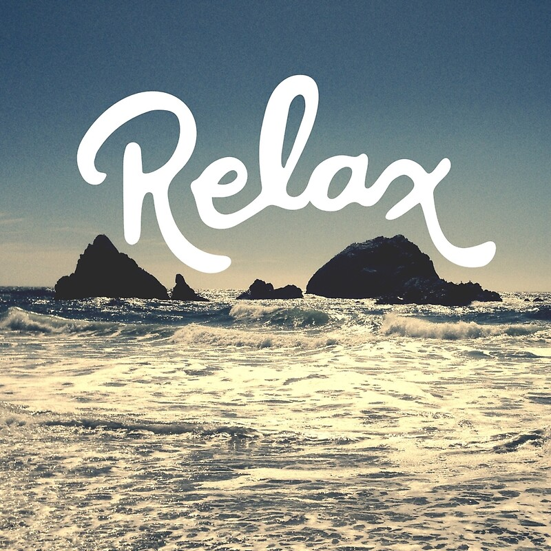 "Relax Hipster Beach Typography Tumblr Boho Photo"" Photographic Prints ..."