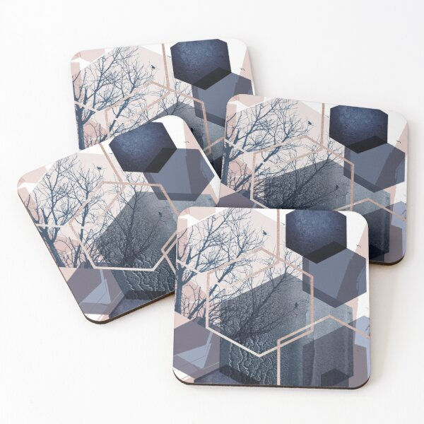 Abstract Landscape Part 1 Coasters (Set of 4)