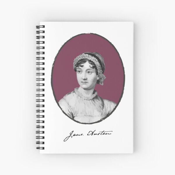 Authors - Jane Austen  Spiral Notebook