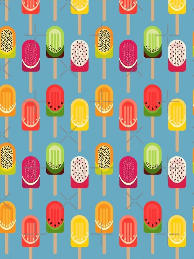 Fruit popsicles - blue version by PrintablesP