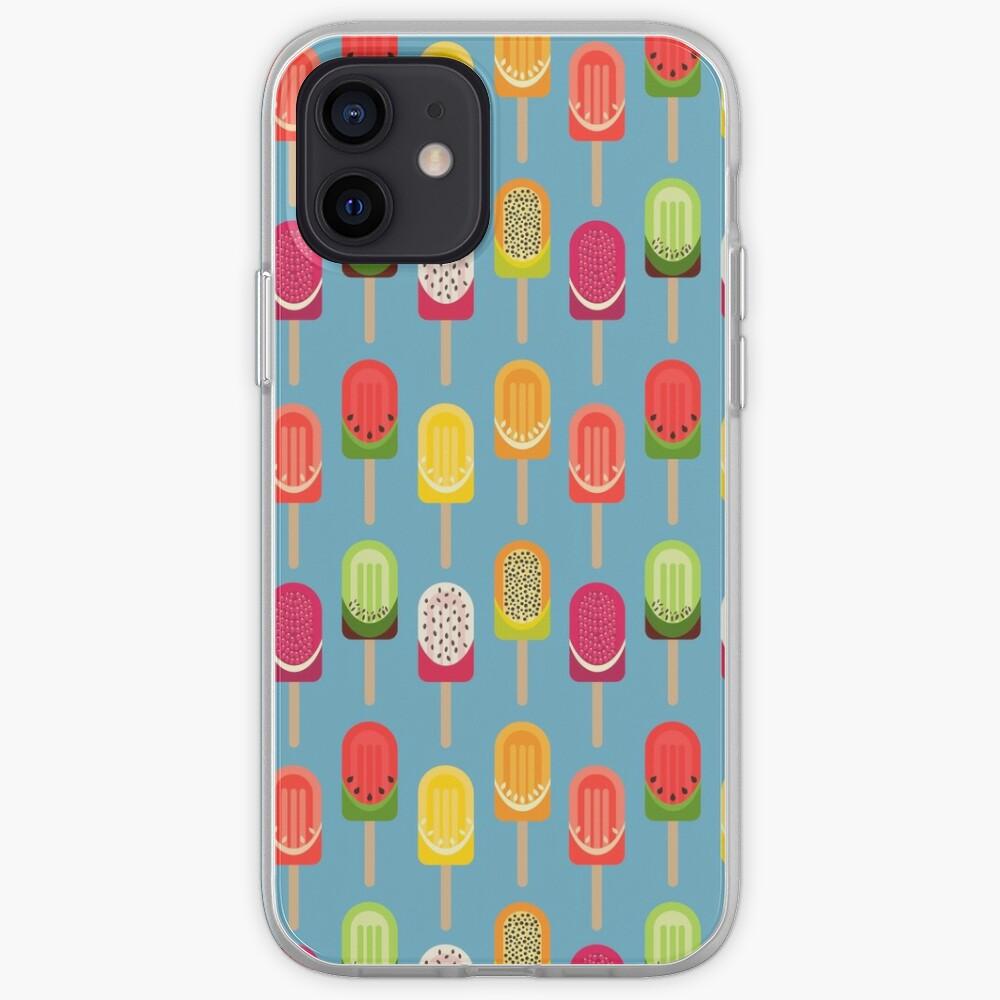 Fruit popsicles - blue version iPhone Case & Cover