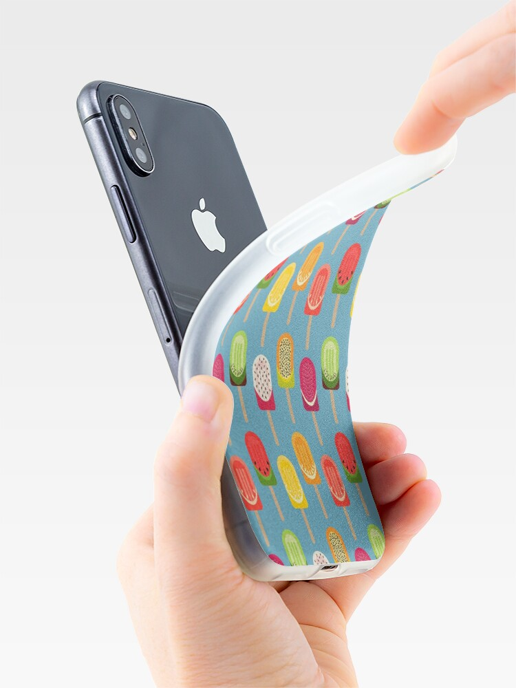 Alternate view of Fruit popsicles - blue version iPhone Case & Cover