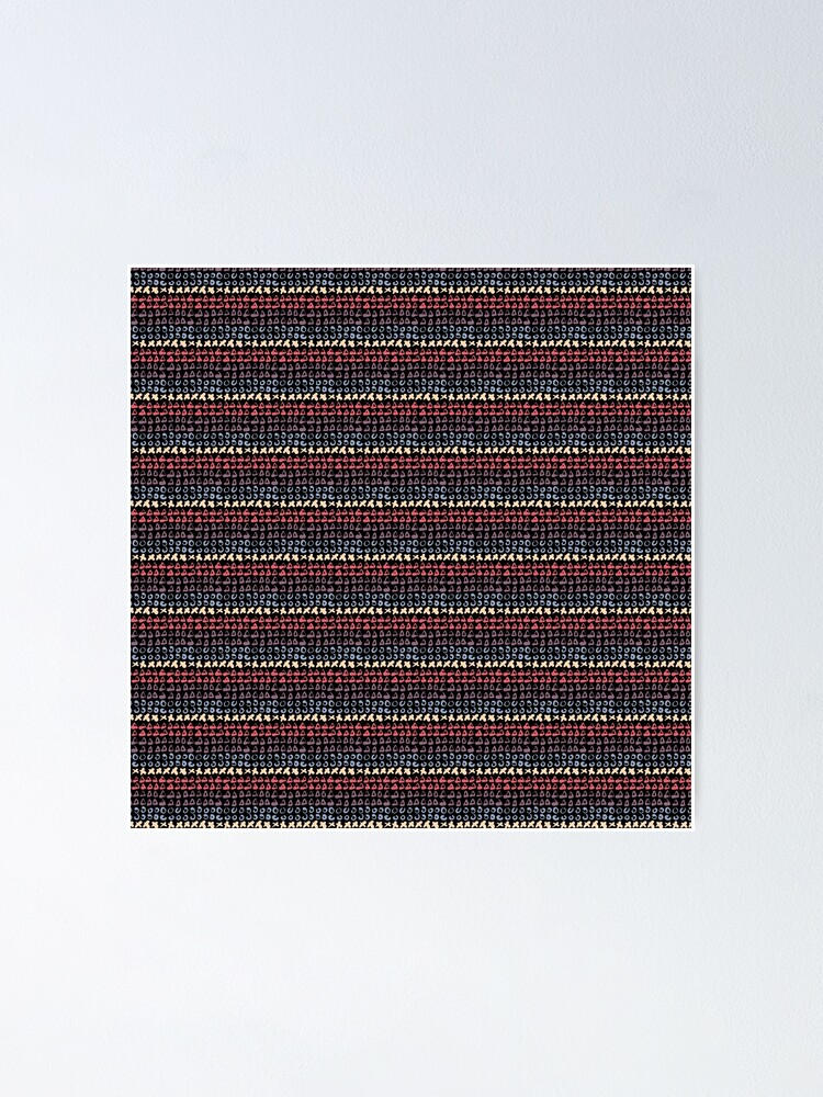 Alternate view of Geometric pattern abstract 1 Poster