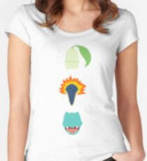 Minimalist Johto Trio Women's Fitted Scoop T-Shirt