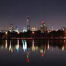 Melbourne twilight cityscape by mistarusson