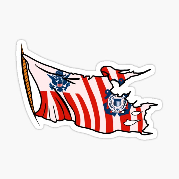 Weathered Coast Guard Ensign Sticker